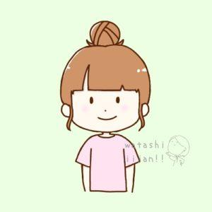 お団子頭の女性ブログふきだし用アイコン 笑顔