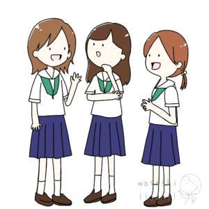 立ち話をする女の子たち イラスト