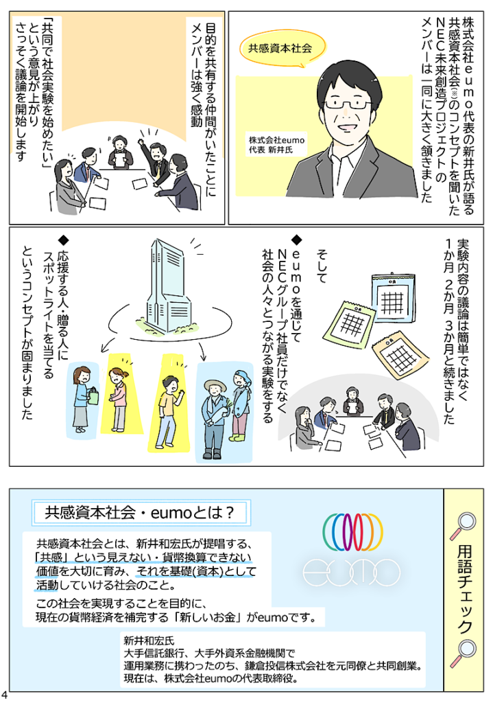 NEC eumo 実証実験 島田あや